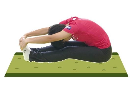 小学校の体力テストにあった「長座体前屈」を思い出しました