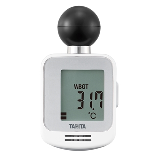 ブルートゥース通信機能つきの小型の黒球式熱中症指数計は国内初