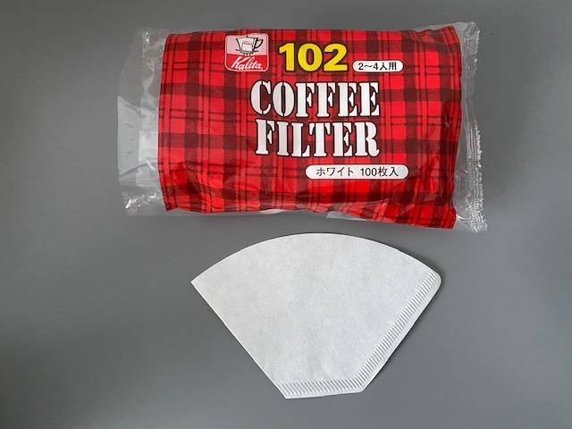 ▲「カリタコーヒーフィルター ホワイト NK102濾紙2~4人用」