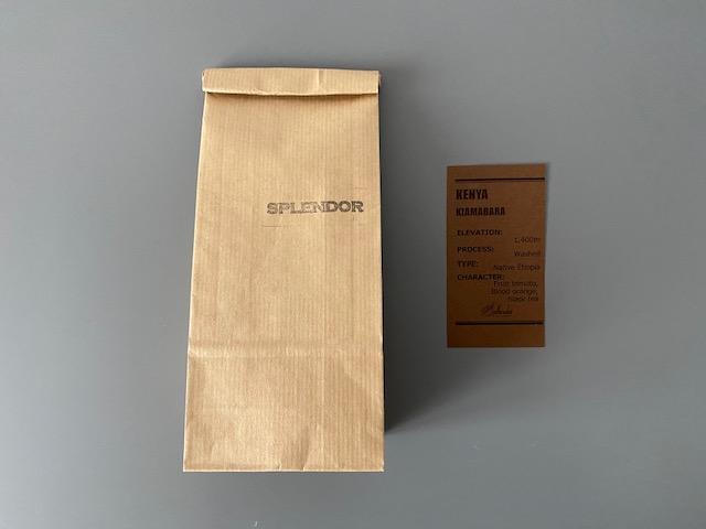 ▲コーヒー豆は「ケニア」(浅煎り・ウォッシュト)。ペーパーフィルター用に挽いてもらいました
